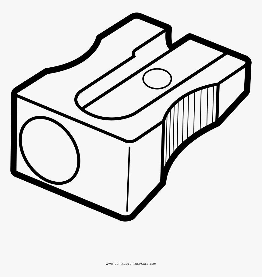 Transparent Pencil Sharpener Png - Dibujo De Un Sacapuntas Para Colorear, Png Download, Free Download