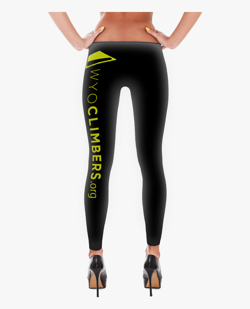 Black Tights 01 Neon Cwca Logo Long Lg 01 Mockup Back, HD Png Download, Free Download