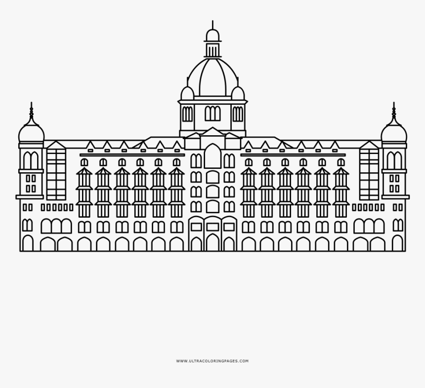 Taj Mahal Palace Hotel Coloring Page - Byzantine Architecture, HD Png Download, Free Download