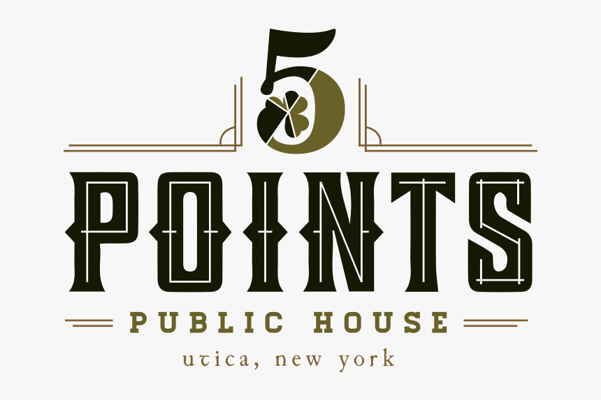 5 Points Public House Logo - Graphic Design, HD Png Download, Free Download