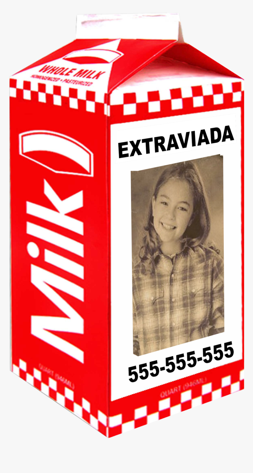 Missing Milk Carton , Png Download - Missing Milk Carton Blank, Transparent Png, Free Download