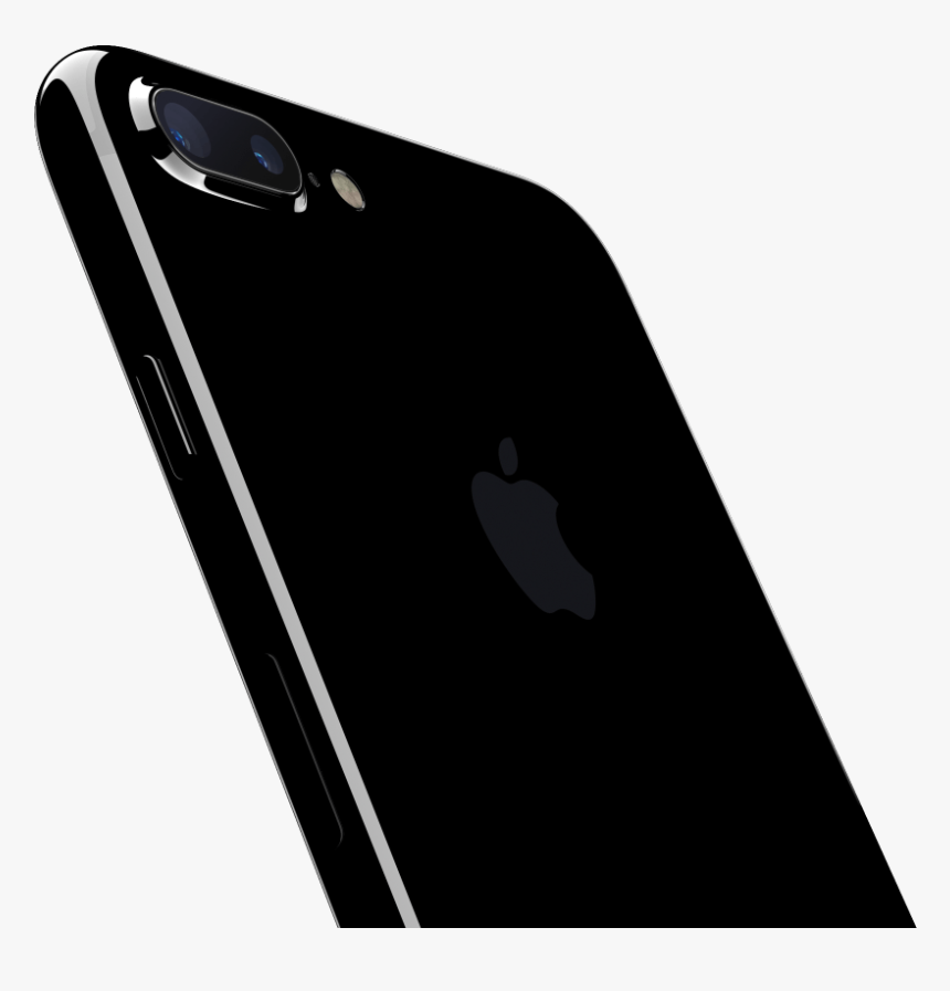 Black Iphone 7 Png - Iphone 7 Jet Black, Transparent Png, Free Download