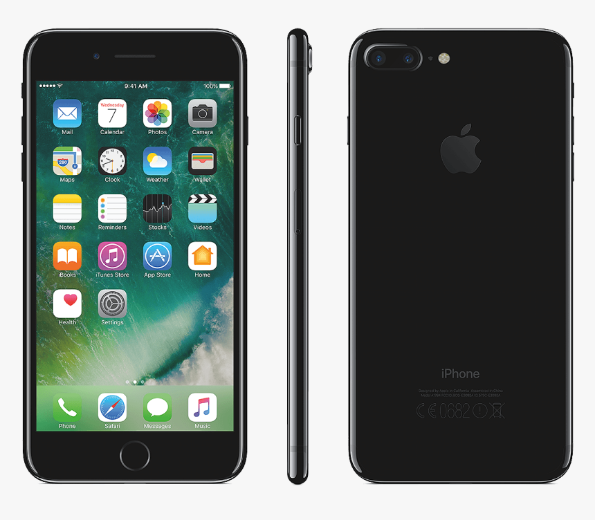 Apple Iphone 7 Plus Black - Iphone 7 Plus Jet Black, HD Png Download, Free Download