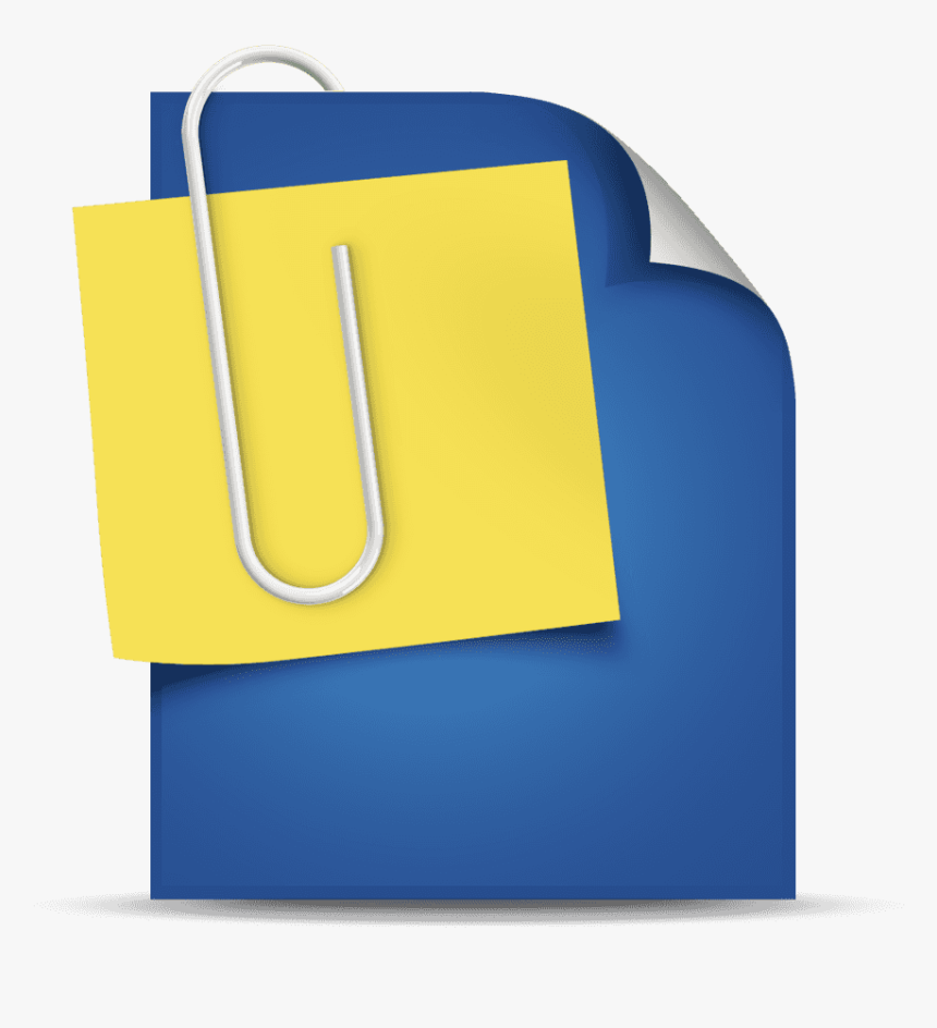 Thumb - Attachment Document Icon Png, Transparent Png, Free Download