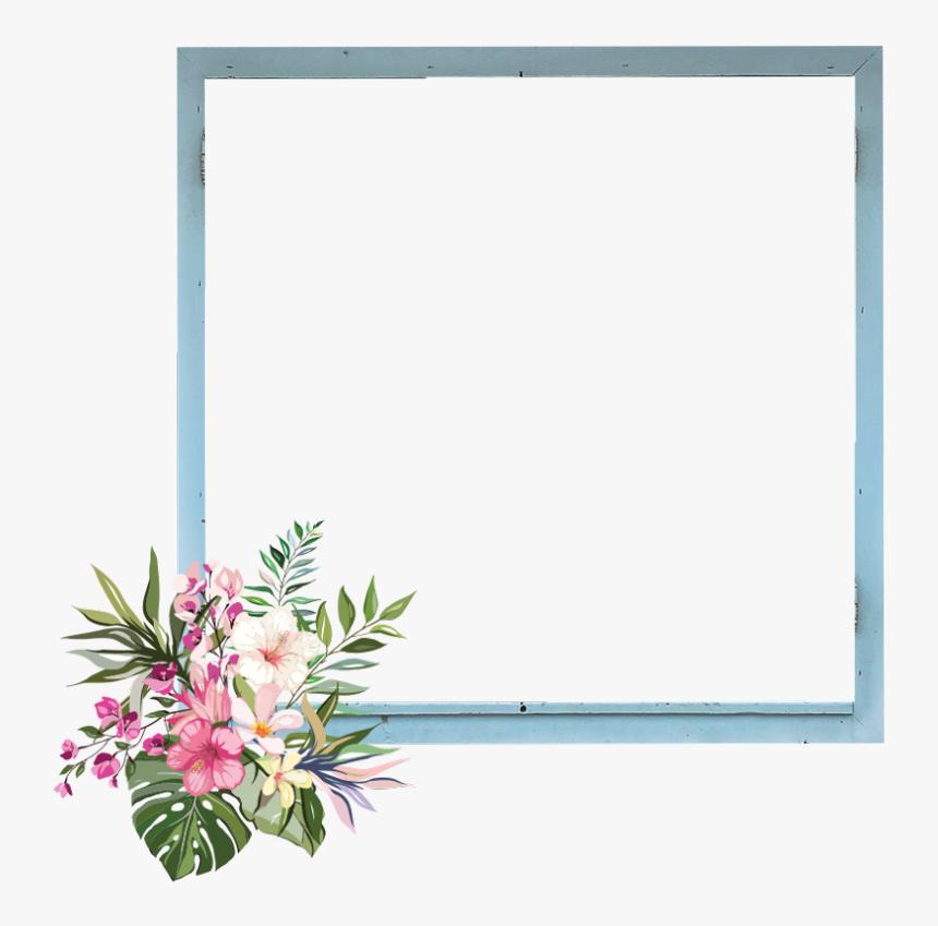 frame border kpop flowers garden nature , Draw A