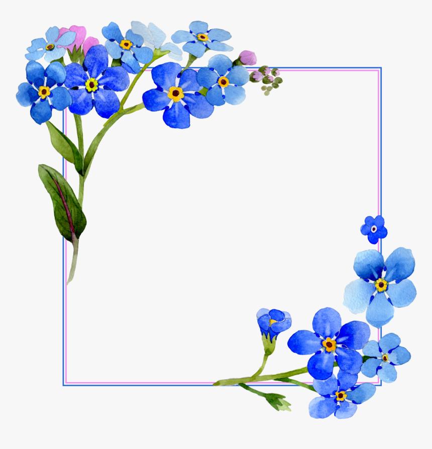 frame flowers nature blue ftestickers flower vector frame png transparent png kindpng frame flowers nature blue