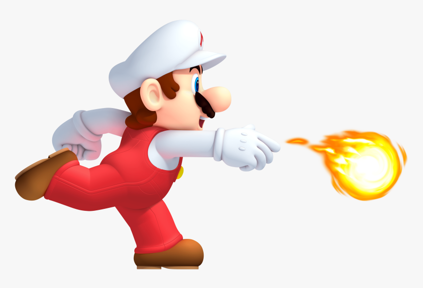 Mario Bola De Fuego - New Super Mario Bros U Fire Mario, HD Png Download, Free Download