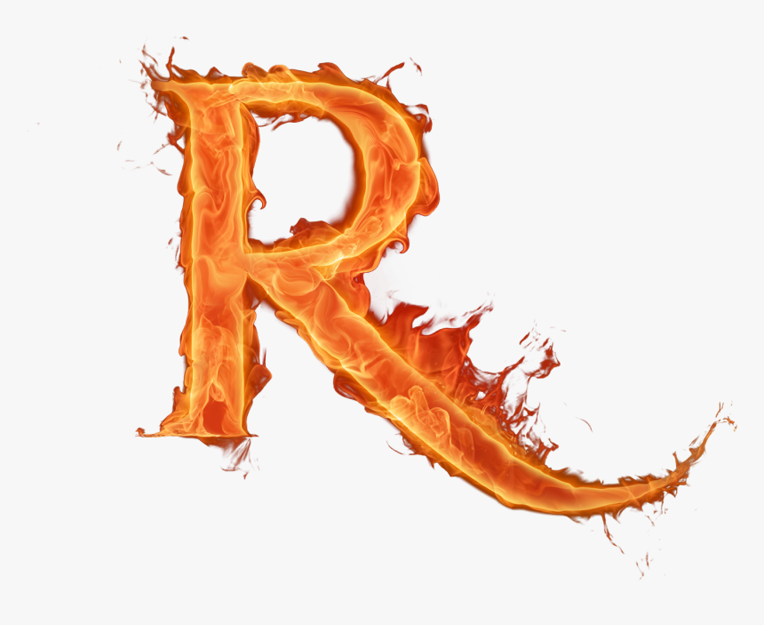 Letras Fuego Png - Letter R On Fire, Transparent Png, Free Download