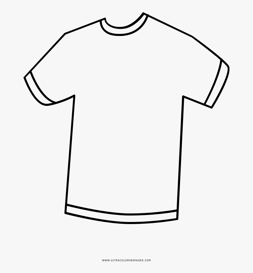 Polo Shirt Clipart Colouring - T Shirt For Coloring, HD Png Download, Free Download