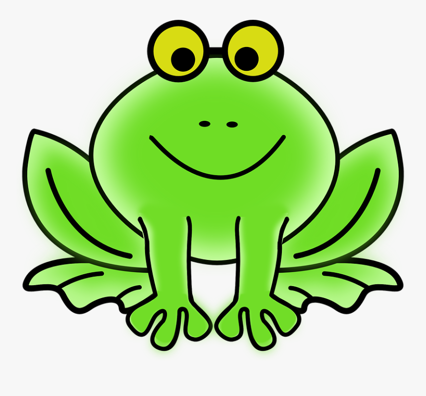Frog Facts For Kids - Animated Picture Of A Frog, HD Png Download, Free Download