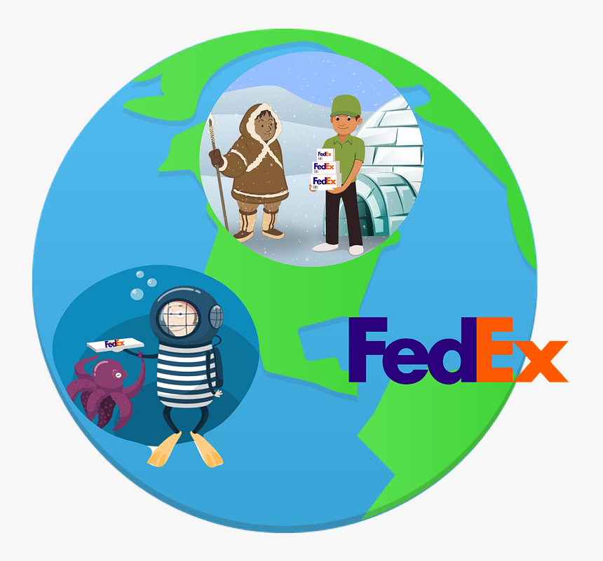 Fedex, Delivery, Fast, Anywhere, Cartoon, Digital Ad - Fedex, HD Png Download, Free Download