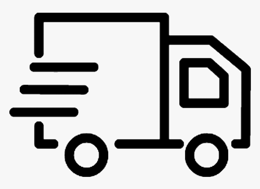 Delivery Truck Png Black And White, Transparent Png, Free Download