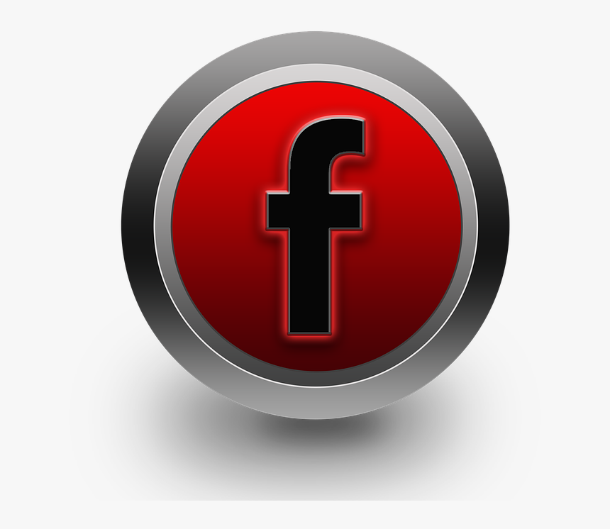 Transparent Red Facebook Icon , Png Download - Facebook Red Icon No Background, Png Download, Free Download