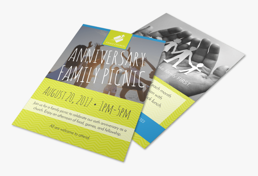 Church Anniversary Family Picnic Flyer Template Preview - Flyer, HD Png Download, Free Download