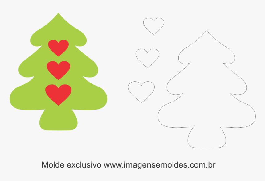 Molde De Feltro Para Arvore Natal, HD Png Download, Free Download