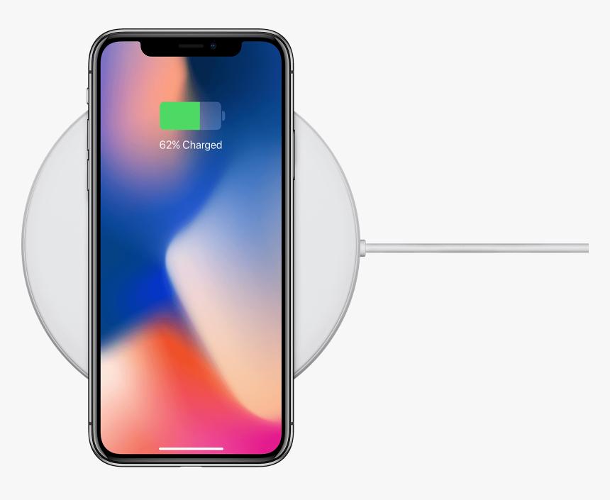 Charging Iphone X Transparent , Png Download - Iphone X Wireless Charging, Png Download, Free Download