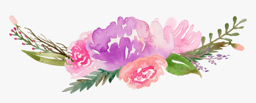 Watercolour Flowers Painting Drawing Watercolor Flowers Free Clipart Hd Png Download Kindpng