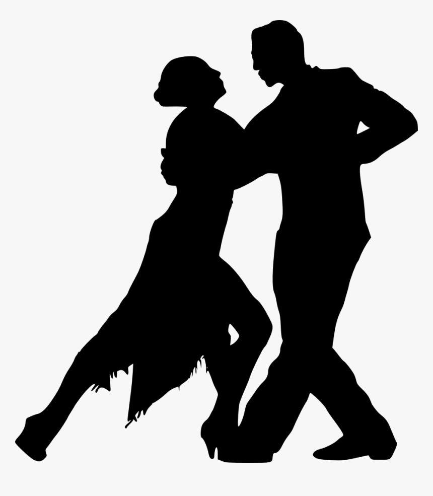 Silhouette Dance Salsa Dance Tango Event Latin Dance Ballroom Couple Dancing Silhouette Png Transparent Png Kindpng