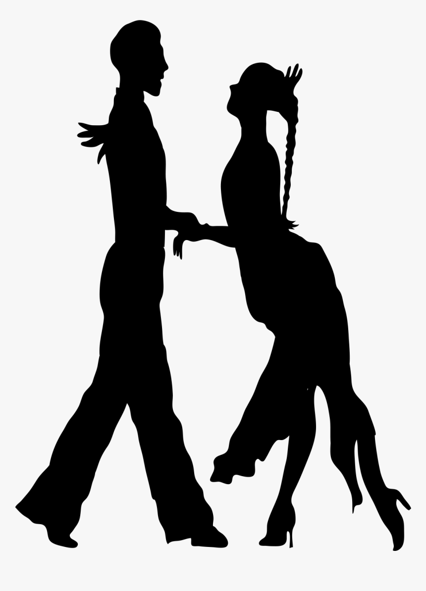 Dance Silhouette Euclidean Vector Male Salsa Dancing Silhouette Hd Png Download Kindpng