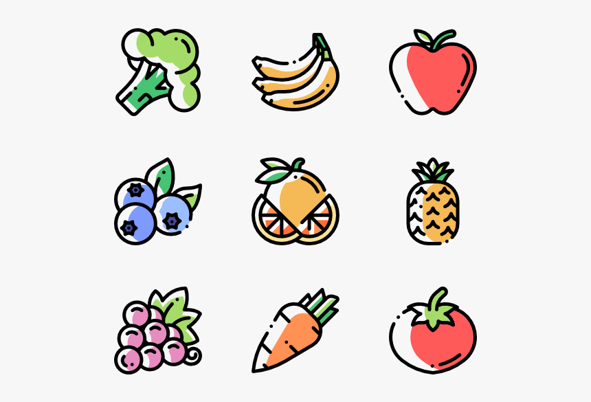 Fruits And Vegetables Elderly Icon Free Hd Png Download