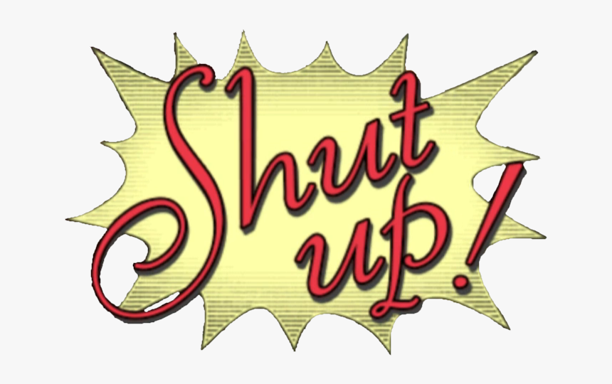 Transparent Manga Speech Bubbles Png Shut Up Objection Ace