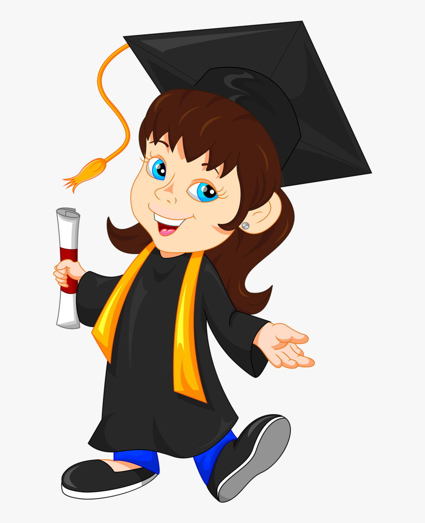 Girl Graduate Cartoon, HD Png Download, Free Download