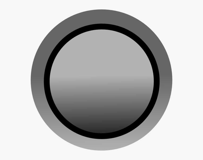 Grey Button Svg Clip Arts - Circle, HD Png Download, Free Download