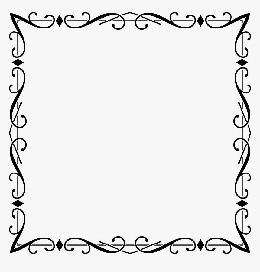 Elegant Fancy Border Design , Transparent Cartoons - Frame Elegant Border Design, HD Png Download, Free Download