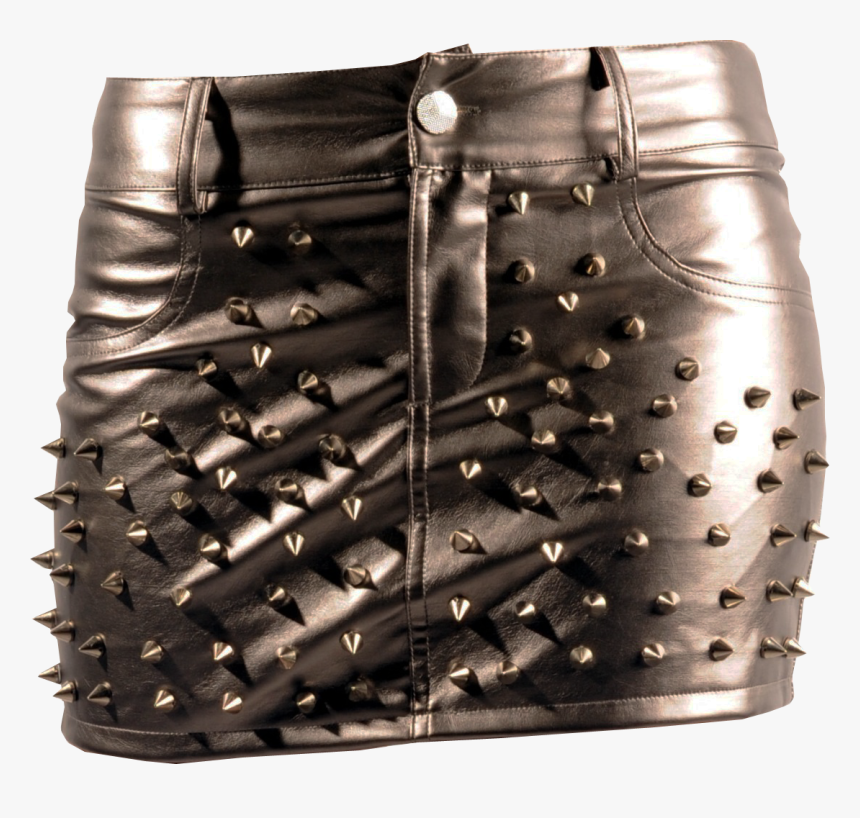 Leather Mini Skirt Spike Studs Transparent Background - Goth Buttons Png Transparent, Png Download, Free Download