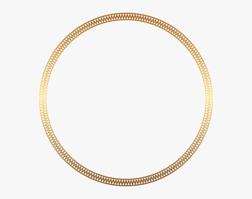 Round Frame Border Gold Clip Art - Border Gold Round Design, HD Png Download, Free Download