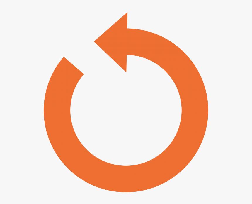 Transparent Circle Arrows Png - Transparent Refresh Button Orange, Png Download, Free Download