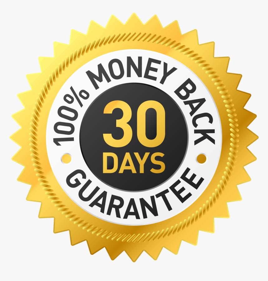 Money Back Guarantee Png - 30 Day Money Back Guarantee Badge Png, Transparent Png, Free Download