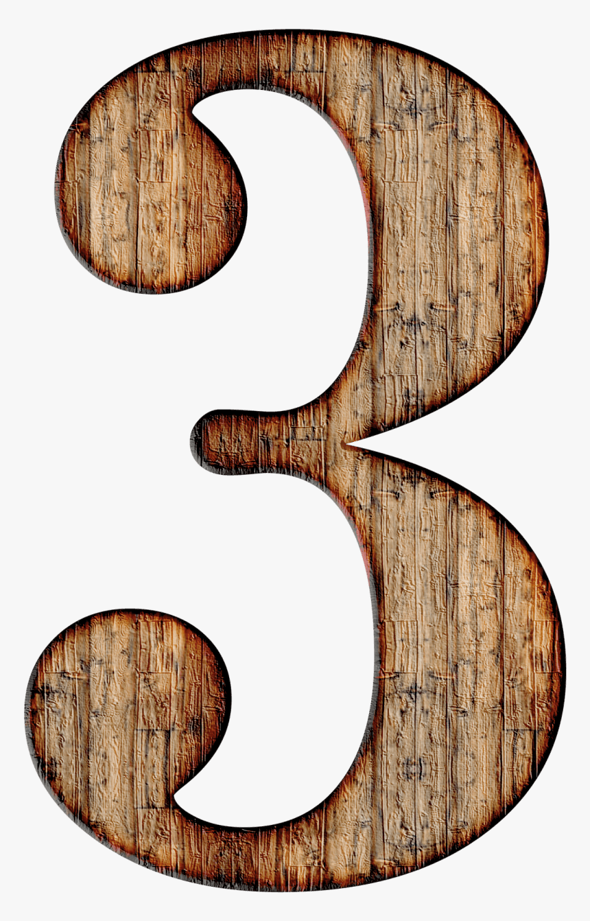 Wooden Number - Number 3 Numerology, HD Png Download, Free Download
