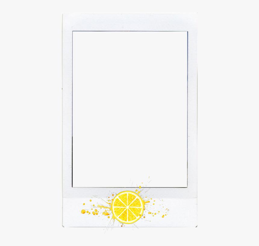 Photo Frame Border Lemon Polaroid Polaroidframe Fruit - Orange, HD Png Download, Free Download