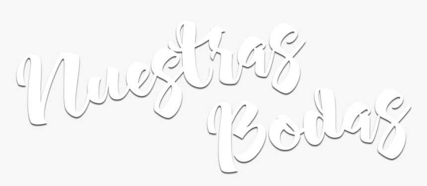 And White,art - Nuestra Boda Texto Png, Transparent Png, Free Download