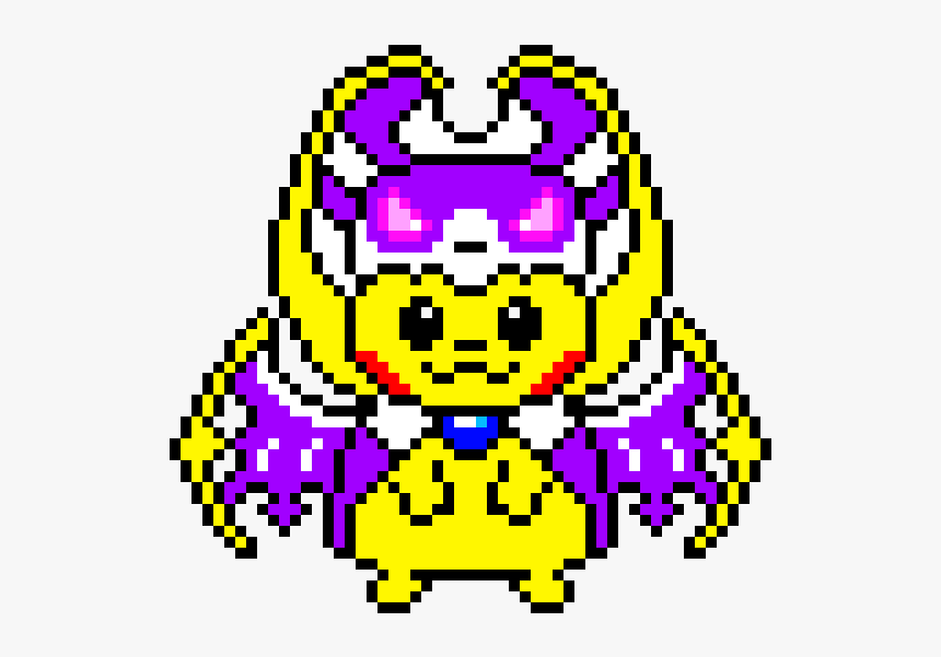 Pikachu Lunala Pixel Art Hd Png Download Kindpng
