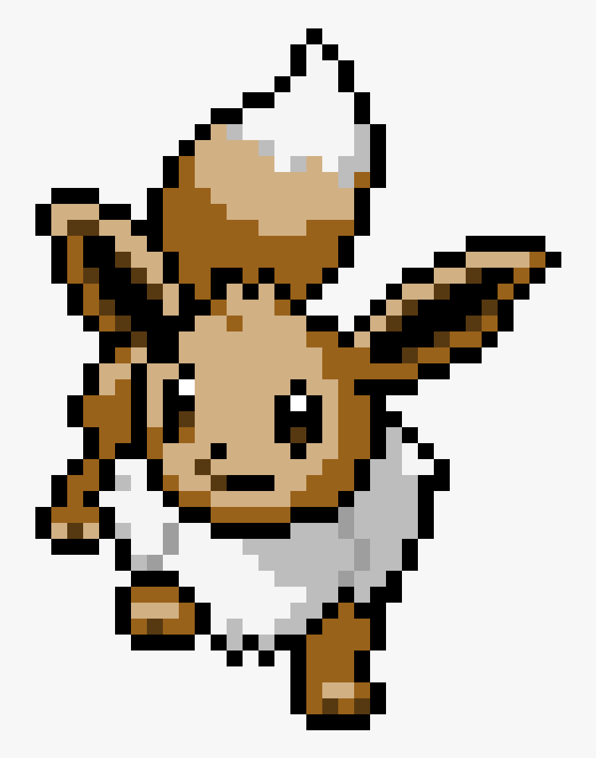 Eevee Pokemon Pixel Art Grid Hd Png Download Kindpng