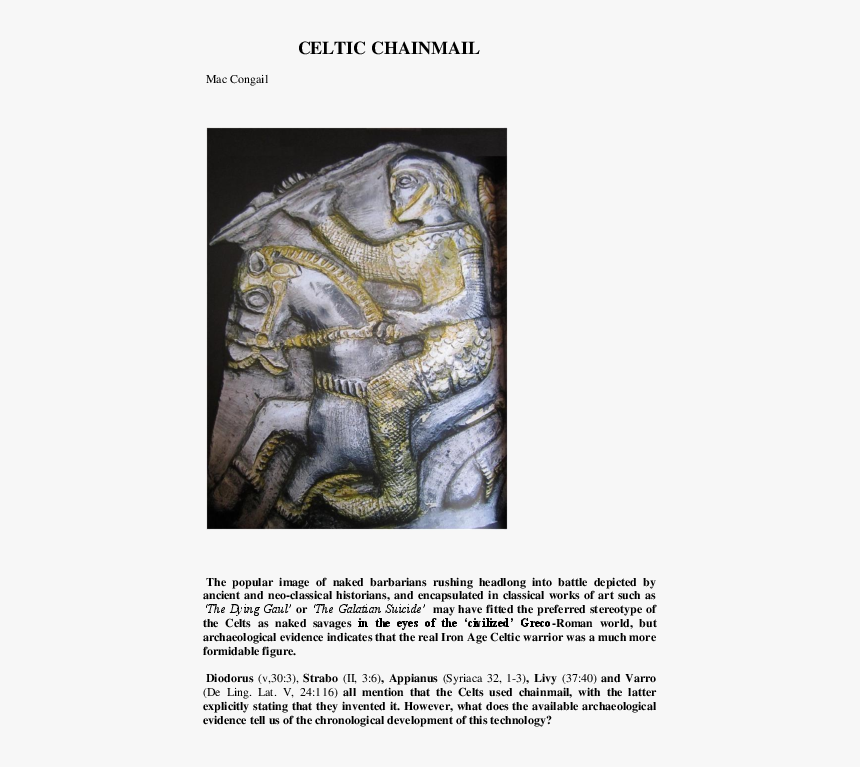 Depiction Of Celts Roman, HD Png Download, Free Download