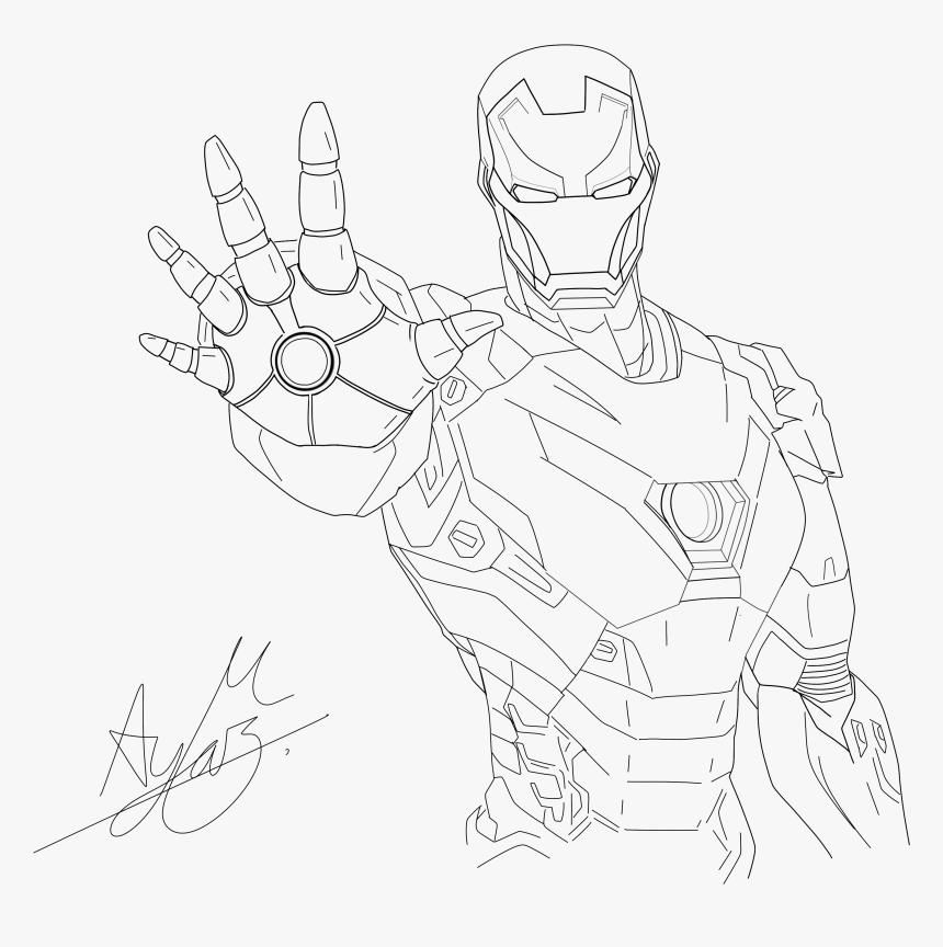 Transparent Iron Man Comic Png - Hand Iron Man Drawings, Png Download, Free Download