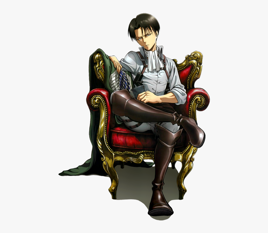 Captain Levi - Attack On Titan Levi On Chair, HD Png ...