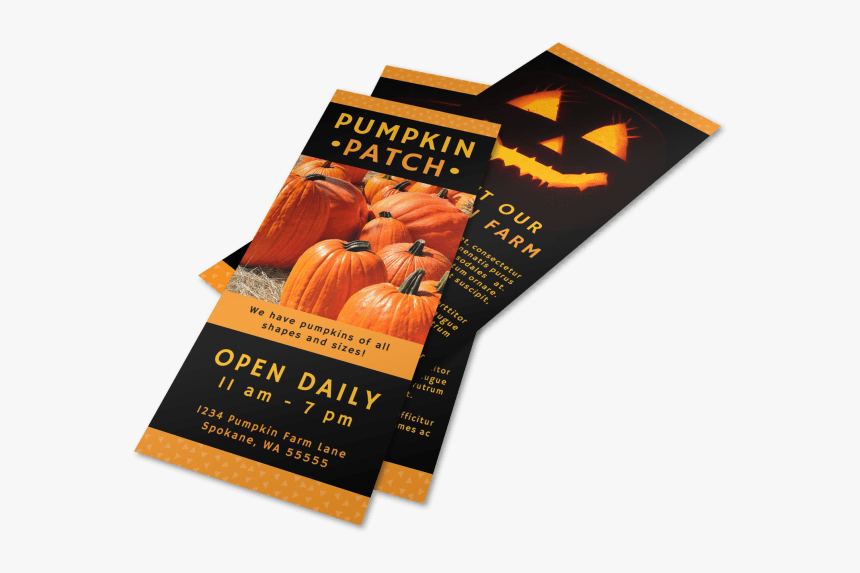 Halloween Pumpkin Patch Flyer Template Preview - Flyer, HD Png Download, Free Download