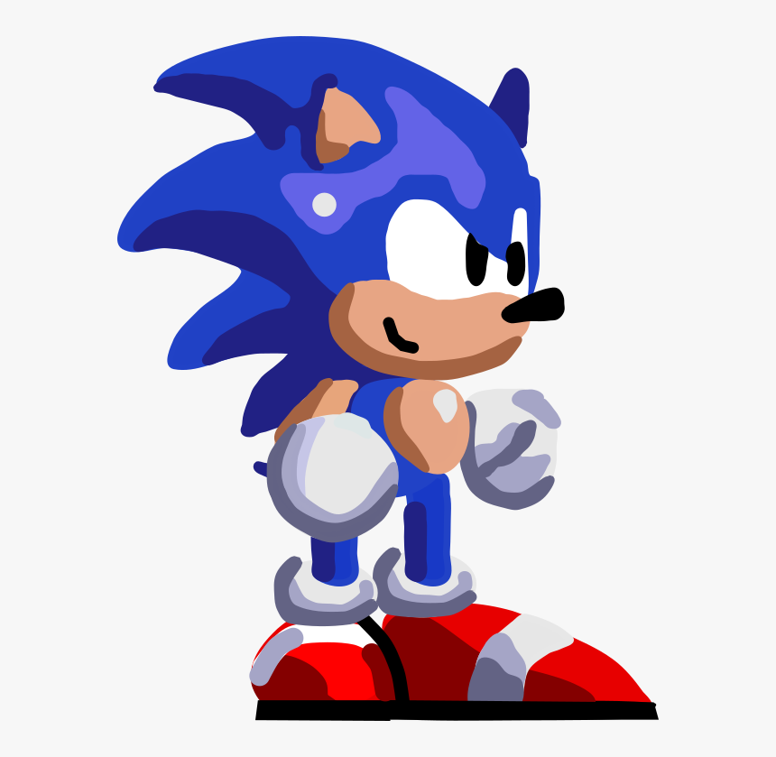 Sonic Vector Art Sonic By Sonicjeremy Sonic Hd Sprites Gif Hd Png Download Kindpng