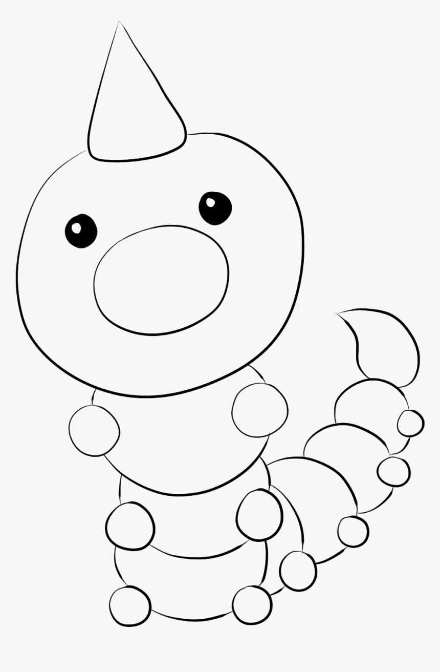 - Weedle Pokemon Coloring Pages Printable - Coloring Book, HD Png