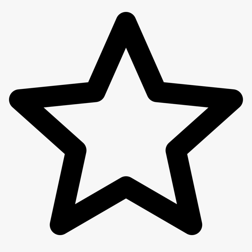 Entertainment Icon - Outline Of Star Shape, HD Png Download, Free Download