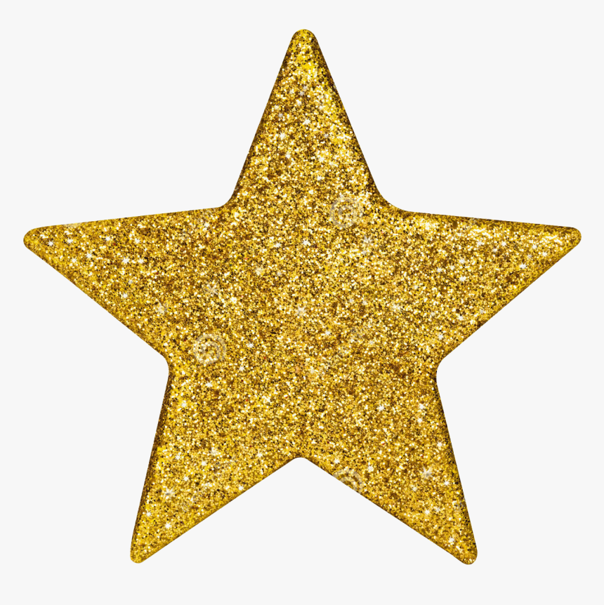 Gold Glitter Star Png, Transparent Png, Free Download