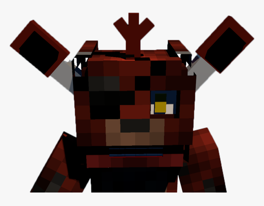 Foxy Photo Head - Skins 4d Para Minecraft, HD Png Download, Free Download