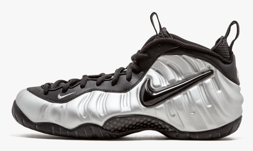 Silver Surfer Foamposite , Png Download - Nike Foamposite Silver Black, Transparent Png, Free Download