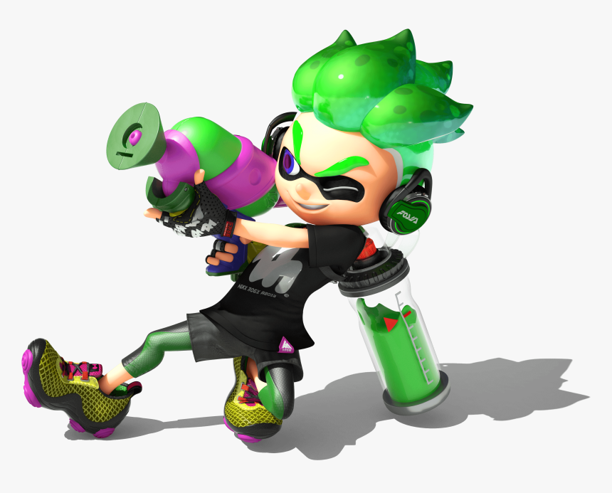 Transparent Sisters Fighting Clipart - Green Inkling Splatoon 2, HD Png Download, Free Download