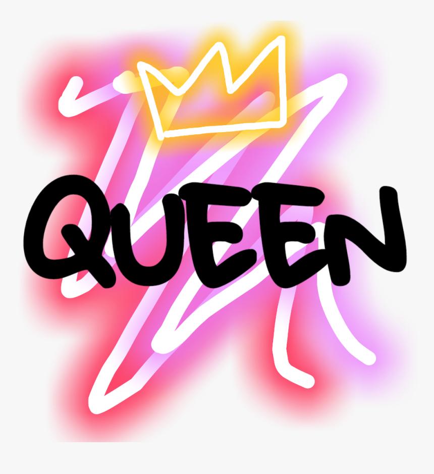 #neon #queen #crown #queencrown #neonqueen #neoneffect - Queen Neon Crown Png, Transparent Png, Free Download