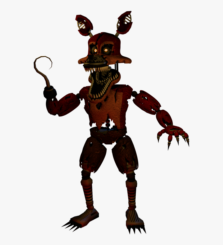 Nightmare Foxy Png Transparent Nightmare Foxy Images - Fnaf Nightmare Foxy Png, Png Download, Free Download